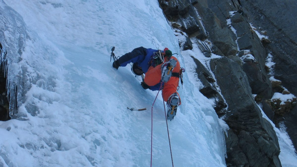 Alpine Style Ice Climbing in Bush Stream