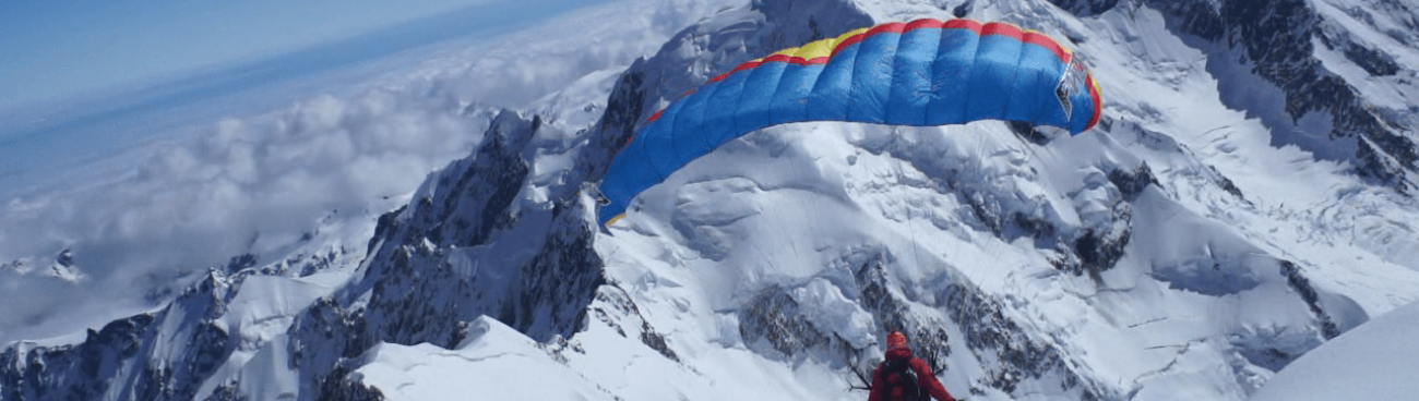 Speedriding from the Summit Ice Cap of Aoraki Mt Cook